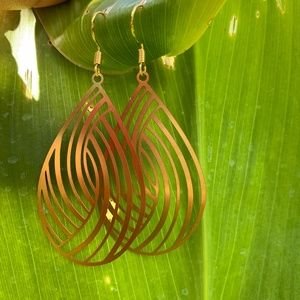 Gold Marquise Shape Earrings